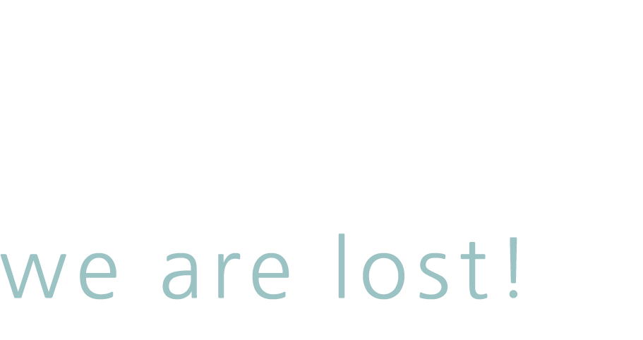 Dude we are lost!